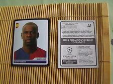 vignettes panini  'foot  uefa champions league 2006/2007'