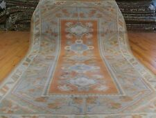 """Antique 4'2""""×6'7""""Muted  Natural Dyes Exquisite Wool Pile Area Rug"""