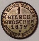 1872A, German States,Prussia,1 Silber Groschen, Germany Silver Coin,See Photos!