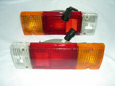 LANDCRUISER HJ75 & HZJ75  PAIR OF TRAY TOP TAIL LIGHTS 84-92 WITH ROUND PLUG