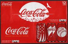 Coca Cola Cardboard 12-Pack Can Case - 2011 Cans of Summer Edition B