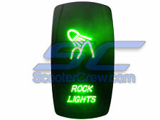 UTV Rocker Switch Green Led On Off Rock Lights Toggle Square 5 prong Dune Sand