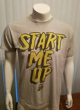 The Rolling Stones Start Me Up Retro T Shirt Block Text Size Large Jagger Rock