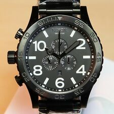 NEW NIXON 51-30 Chrono ALL BLACK Watch A083-001 5130 Watch Men GIFT, FASTSHIP!