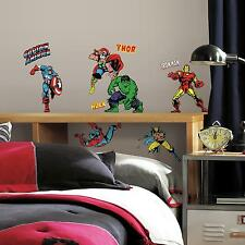 CLASSIC MARVEL SUPERHEROES wall stickers 32 decals Hulk Iron Man scrapbook