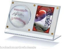 1 Acrylic Ball Baseball & and Card Holder Display Case - Ultra Pro Brand