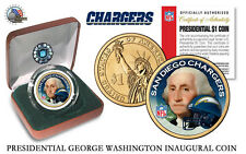 SAN DIEGO CHARGERS NFL USA Mint PRESIDENTIAL Dollar Coin VELVET BOX AND COA*NEW*