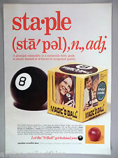 "Magic ""8 Ball"" Fortune Teller PRINT AD - 1972 ~~ Alabe Crafts"