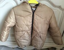 DKNY LIGHT CAMEL BROWN PADDED HOODED JACKET AGE 8