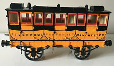 """HORNBY G104 COACH FOR USE WITH G100 STEPHENSONS ROCKET 3.5"""" GAUGE ~ GOOD USED"""
