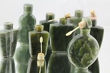 Lot of 8 Vintage Green Agate Chinese Export Snuff Bottles