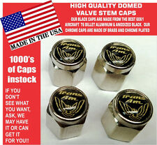 Chrome Pontiac Trans Am TransAm Formula Firebird Gold/Black Valve Stem Caps NICE