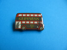 GUINNESS Double Decker Bus Pin badge. VGC. Unused. Enamel.