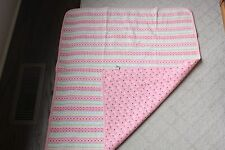 Vintage Gymboree Baby Blanket Pink Red White Flowers Hearts Cotton Candy 1998