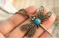 "Beautiful Rhinestone Retro Dragonfly Pendant Necklace on 27.5"" chain Dragon Fly"