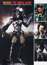 Machiko Predator Huntress Girl 1/6 Unpainted Statue Figure Model Resin Kit