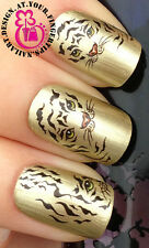 NAIL ART WRAP WATER TRANSFERS DECALS STICKERS SET ANIMAL PRINT TIGER STRIPES #55