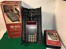 Texas Instruments Calculator SR-40 Box Case & Owners Manual AC Adapter 9131