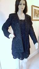 ESCADA COUTURE BLACK SUIT ENSEMBLE SKIRT AND JACKET RRP £3000