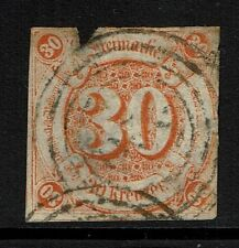 Thurn and Taxis SC# 52, Used, Mixed Condition, Ctr Thin, Torn Top -  Lot 022617