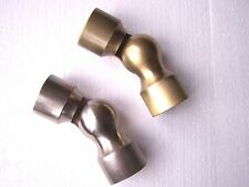 1 Burnished Antique Brass Bay Window Curtain Pole Corner Joint Elbow 35mm Dia