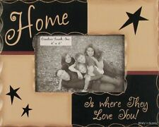 HOME IS WHERE THEY LOVE YOU wood Picture Frame Family Photo primitive Home Decor