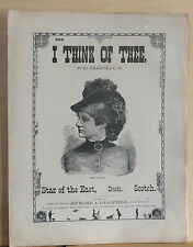 I Think of Thee & Star of The East (duett) songs - 1880's large sheet music