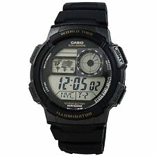Casio AE1000W-1AV World Time Chronograph Multi Alarm LED Digital Sport Watch