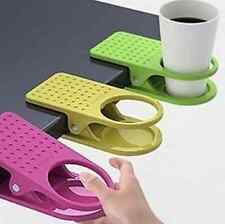 1 pc plastic Home Office supplies Drink Cup Coffee Mug Desk Table Holder Clip