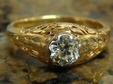 .60 ct SI1-2/G Victorian European Cut Belais DIAMOND Engagement Ring 14K YG