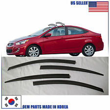 A126 SMOKED DOOR WINDOW VENT VISOR SUN DEFLECTOR HYUNDAI ACCENT SEDAN 2012-2016