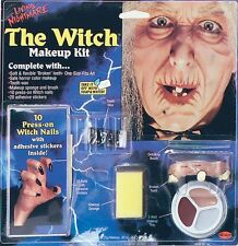 Witch Hag Old Lady Make Up Kit Halloween Face Paint Set Fancy Dress NEW P5455