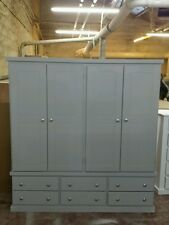HANDMADE CAMBRIDGE 4 DOOR &  6 DRAWER GREY WARDROBE **NO FLAT PACK**