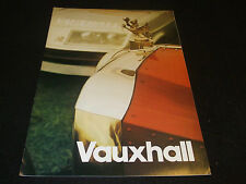 Vauxhall 1974-75 UK Market Sales Brochure + 4 Inserts Inc. Price List & 3 Others