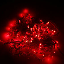 10m 100pcs Outdoor LED Light String Lights-EU Red Christmas Xmas Decoration