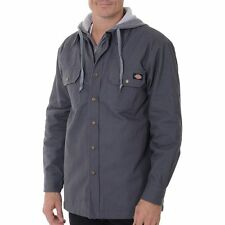 L NEW Men's DICKIES MOCK LAYER HOODED JACKET Quilted Lined Tough Work wear $55