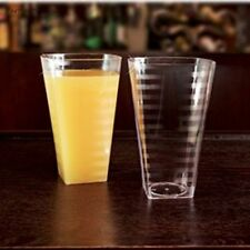 14oz Square Disposable Plastic Rock Clear Tumbler Cups 168 Tumblers / Glasses