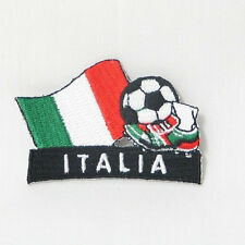 ITALIA SOCCER FOOTBALL KICK COUNTRY FLAG EMBROIDERED IRON-ON PATCH CREST BADGE