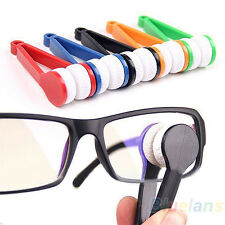 Modern Mini Glasses Eyeglass Sunglasses Spectacles Microfiber Cleaner Brush BE7A