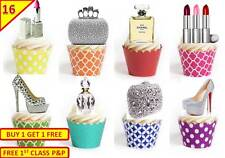 32 Bling Makeup Handbag Shoes Cup Cake Edible Decorations Toppers STAND UP