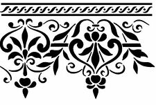 ORNAMENT STENCIL WAND SCHABLONE GRECA DECOR BAROCK DAMASK XL WANDSCHABLONE NEU