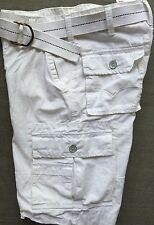 Levi's Jeans White Cargo Shorts Levis Size 30 Belted New NWT