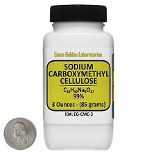 Sodium Carboxymethyl Cellulose [CMC] 99% Food Grade Powder 3 Oz in a Bottle USA