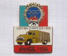 COCA-COLA / OLYMPISCHE SPIELE CORTINA D`AMPEZZO 1956 TRUCK ... Pin (101a)
