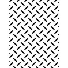 Darice Embossing Folder DIAMOND PLATE  Background NEW! Card making A2 1218-101