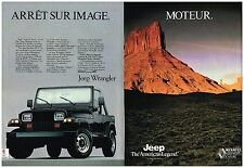 Publicité Advertising 1991 (2 pages) Jeep Wrangler 4X4