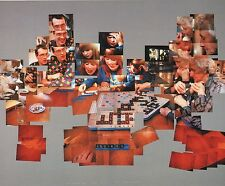 "DAVID HOCKNEY BOOK PRINT ""THE SCRABBLE GAME"" PHOTO COLLAGE WITH THREE PLAYERS"