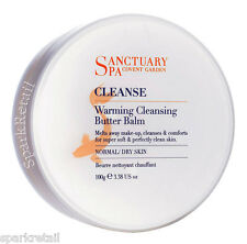 Sanctuary Spa Cleanse WARMING CLEANSING BUTTER BALM Face/Facial Cleanser 100g