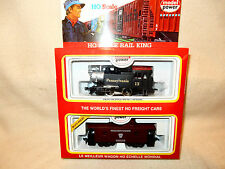 MODEL POWER HO RAIL KING PENNSYLVANIA 0-4-0 SWITCH ENGINE  W PENNSY CABOOSE-NEW-