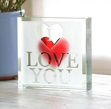 "Spaceform Paperweight ""I Love You"" Romantic Love Gift Ideas for Him Men Her 1869"